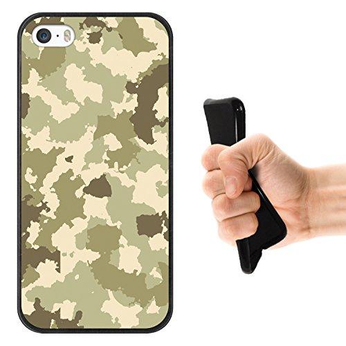 iPhone SE iPhone 5 5S Hülle, WoowCase® [ Hybrid ] Handyhülle PC + Silikon für [ iPhone SE iPhone 5 5S ] Bäume und Universum Handytasche Handy Cover Case Schutzhülle - Transparent Housse Gel iPhone SE iPhone 5 5S Schwarze D0075