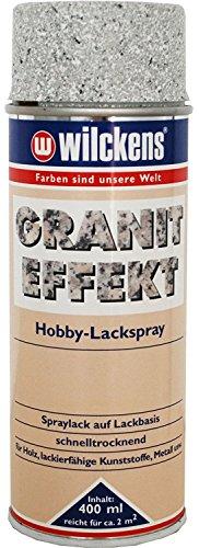 2 x Wilckens Granit Effekt Spray farbton wählbar 800 ml, Wilckens:Hellgrau