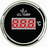 Jauge de température d'huile numérique Mètre 50–150& # X2103; 5,1cm (52mm) 9–32V avec rétroéclairage