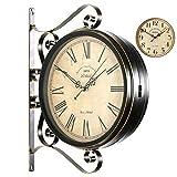 M&T Bügeleisen und Bügelbrett, Wecker Doppel opsite* das Parlament der Retro Style [ehemaligen] Double Lounge Wall Clock Clock Mute Dekoration der Handwerk Haushalt - B