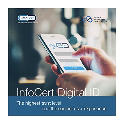 Digitale Signatur eIDAS InfoCert / Kein Chipkartenleser / Signatur mehr ohne physisches Gerät / Cloud-basiert: Sie brauchen kein Gerät zum Signieren, nur Ihr Smartphone / Mobil: Über die MyInfoCert App (verfügbar für iOS und Android) können Sie auf Ihre digitale ID in der Cloud zugreifen / Vollständig konform: Mit der EU-eIDAS-Verordnung / Bequem: Holen Sie es sich in wenigen Minuten online / Kostenlose Software: Benutzen Sie GoSign Desktop (unsere kostenlose Signatur-Software) (Signieren Von Digitales Software)