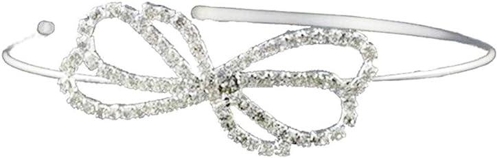 Crystal Crowns Rhinestone Wedding Bridal Tiaras Adjustable Handmade Bowknot Headband for Girl Women