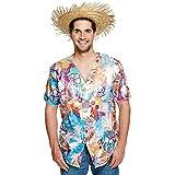 Camisa hawaiana para hombre, estilo hawaiano, parte superior de fiesta, floral, verano, playa, con botones