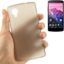 Carcasa ultrafina 0,3mm para teléfono Google Nexus 5Gris Transparente