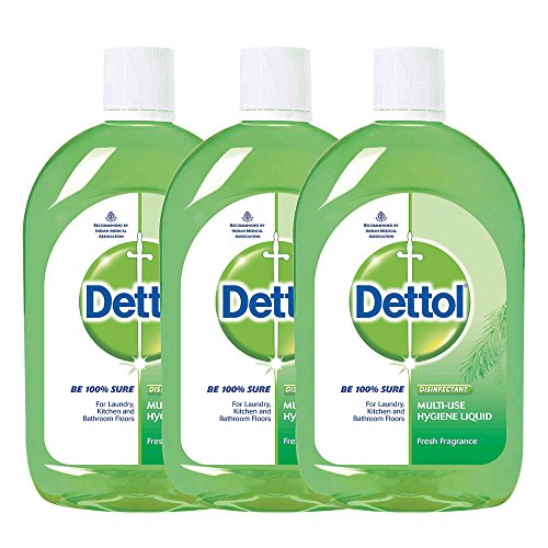 Dettol Regular Hygiene Disinfectant Liquid (500ML, Pack of 3)