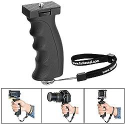 Fantaseal® Grip Poignée Portable, Robuste Caméra Monopode Ergonomique Support pour Caméra Poignée Grip pour 1/4''Filetage DSLR Caméra Nikon Canon Pentax Olympus Sony/Light Flash etc