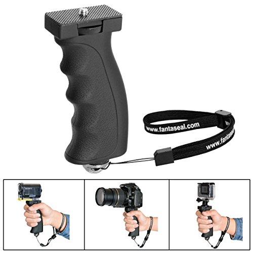Ergonomisch DSLR Kamera Handgriff Systemkamera Handheld Halter Stabilisator Camcorder Griff Stick Video Light Halterung Hand Grip Einbeinstative mit 1/4 Zoll Schraube für Canon Nikon Sony Cameras