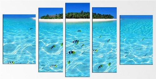 Startonight Cuadro sobre Vidrio Isla, Impresion en Calidad Fotografica Pintura Listo Para Colgar Diseño Moderno Decoración Formato Grande 90 x 180 CM