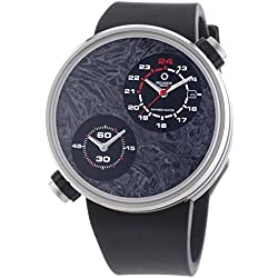 Meccaniche Veloci Due Valvole Ccm Limited Edition Men's Automatic Watch with Grey Dial Analogue Display and Black Rubber Strap W125N255497024