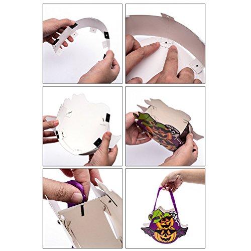 Gunst Pouch Halloween Süßigkeiten Geschenk Tasche Party Supplies für DIY Kinder Halloween Party 10 stücke (Zufällige Stil und Farbe)