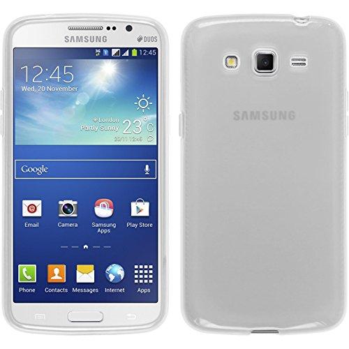 Funda de silicona para Samsung Galaxy Grand 2 - transparente blanco - Cover PhoneNatic Cubierta + protector de