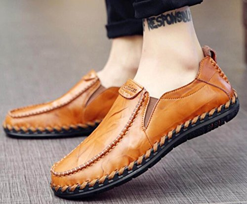 Automne Et Hiver Hommes Chaussures Angleterre Soft Bottom En Cuir Casual Chaussures Hommes Chaussures Set Chaussures Hommes Pois B