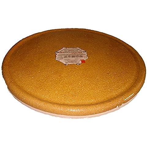 Alfarería Pereruela Siglo XVI APPLR28 - Plato redondo de barro refractario auténtico , 28 cm