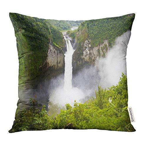 Funda de almohada verde Amazon Amazon San Rafael Falls La cascada más...