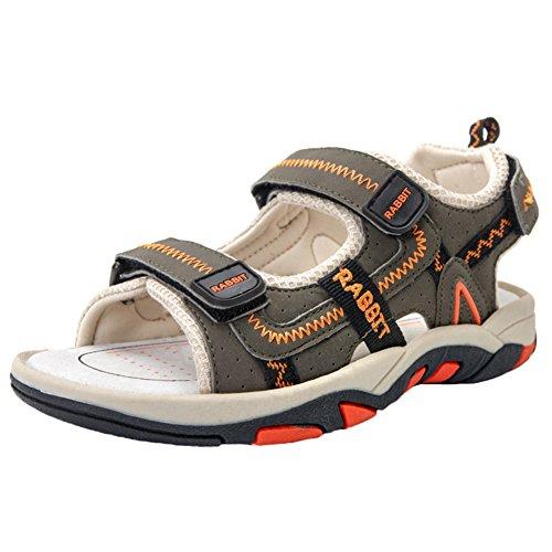 Scothen Plage sandales d'été fermée Velcro chaussures de marche plein air ultra-léger respirant chaussures plates unisexe enfants garçons sandales plage d'été anti-dérapant pantoufles chaussures Orange
