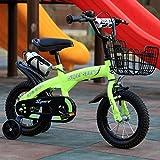 """M-YN Bicicletta Bambini Bambini Bambini Bambino della Bici della Bicicletta di Stile Libero del Ragazzo della Ragazza 7 Colori, 12"""", 14"""", 16"""", 18"""" con stabilizzatori, Bottiglia d'Acqua e Titolare"""