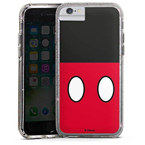 Apple iPhone X Bumper Hülle Bumper Case Glitzer Hülle Disney Mickey Mouse Hosen Geschenke Merchandise Bumper Case Glitzer rose gold