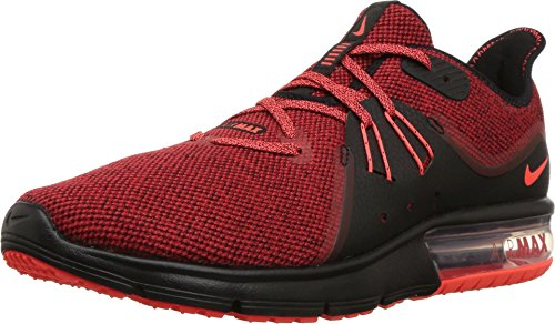 equent 3 Running Shoes (12 D(M) US, Black/Total Crimson/University Red) ()