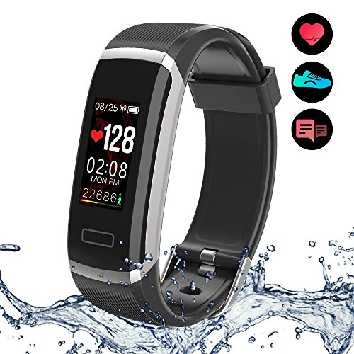 Fitness Tracker Yakuin Smart Watch Wearables Sport Smart Wristband Waterproof IP67 Activity Tracker Colorful Touch Screen With Heart Rate MonitoringTake PhotoSleep MonitorCalorie BurnedRoute PaintedCa