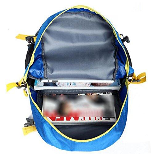 Yueer 40L Impermeabile All'aperto Ricreazione Sport Viaggi Ultraleggeri Escursioni A Piedi Spalle Zaino,E C