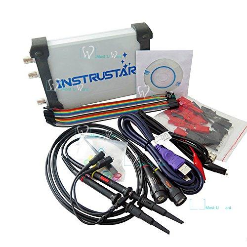 Test Equipment PC-basierte 5in1USB Digital-Virtual-Oszilloskop 2CH 20MHz 48MS/s Spektrumanalysator Daten Recorder 16Kanal Logikanalysator DDS