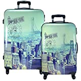 Hartschalenkoffer Koffer Reisekoffer Set New York Trolley Hartschale BIG APPLE 78 bzw 68cm gratis Kofferwaage