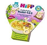 HiPP Kinder-Nudel-Spaß Zauberhaftes Nudel-1-2-3 in Mais-Buttergemüse mit Karotten, 1er Pack (1 x 250 g)