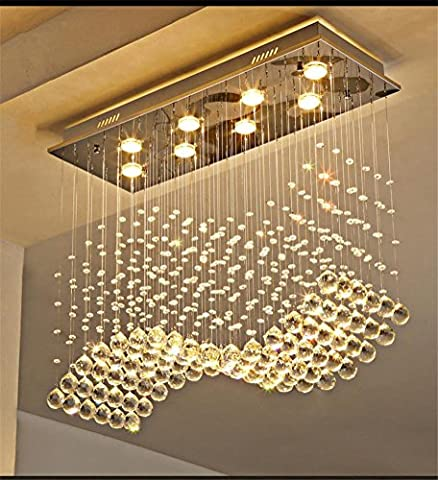 Lustre en cristal Restaurant Led Modern Simple Creative Bar Table à manger Chandelier , A