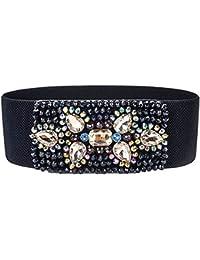 Cinturón De Cintura De Las Mujeres Mujeres Elegantes del todo fósforo  Cinturón de diamantes de imitación hechos a mano Vestido de cuentas… 3a098902e2a7
