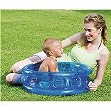 LLFFDC Baby Aufblasbares Pool Kinderspielzeug Planschbecken Badewanne, 64 x 25cm, Blau
