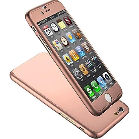 Tongshi Para iPhone 6S Plus 5.5inch,La cubierta dura de vidrio acrílico (oro rosa)