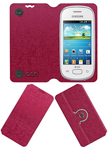 Acm Designer Rotating Flip Flap Case for Samsung Galaxy Star S5280 S5282 Mobile Cover Pink  available at amazon for Rs.399