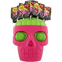 Chupa Chups Skull Lecca Lecca, Confezione da 100 Lollipops Monopezzi, Aroma Fragola e Lime, Ottimi da Condividere