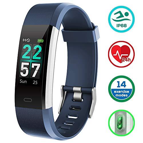 KUNGIX Orologio Fitness Tracker Smartwatch Android iOS Uomo Donna Cardiofrequenzimetro da Polso Contapassi Smart Watch Schermo a Colori Impermeabile IP68 Braccialetto
