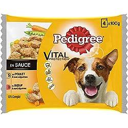 Pedigree Vital Protection - Sachets Fraîcheur pour Chien Adulte aux 2 Saveurs en Sauce, 52 Sachets Repas de 100g