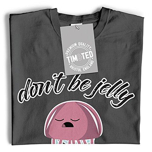 Seien Sie nicht Jelly Jealous Quallen Netter Seeozean Langarmshirt Grey