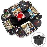 Explosion Box, opamoo Scrapbook Creative DIY Photo Album con 16 PCS di accessori Fai da Te Album Fotografico Creativo Album di Foto Regalo per San Valentinoi, compleanno, Matrimoni, Anniversario -Nero