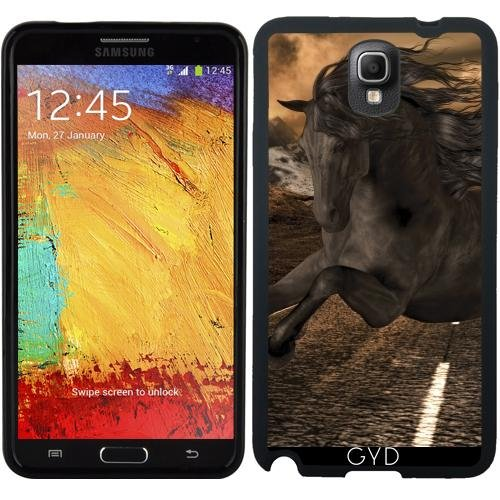 517N3ppyskL BEST BUY #1Silicone Case for Samsung Galaxy Note 3 (SM N9005)   Black Stallion by Gatterwe price Reviews uk