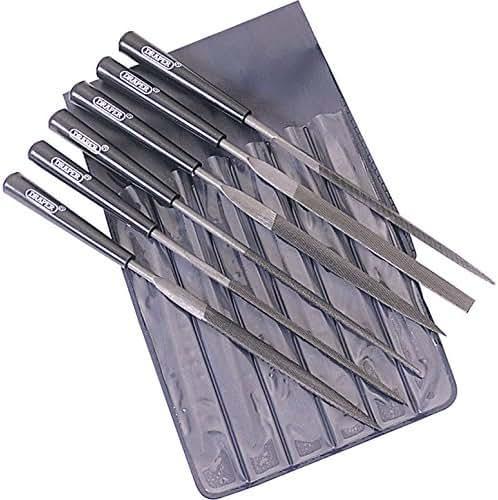 w//3yr Rescu3/® Warranty Multi Set Precise Engineered Draper SX-36324 6 Piece 140mm Needle File Set