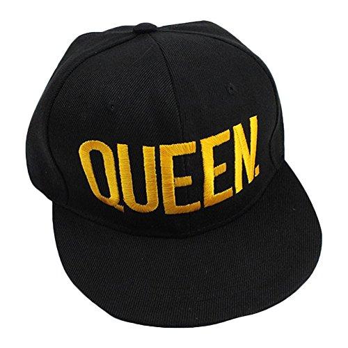 Minetom Männliche und Weibliche Mode Hip Hop Baseball Cap Außen Modische Unisexjustierbares Freizeit Brief Stickerei King und Queen Gelb1 Einheitsgröße (Vintage Shirt Armee Bdu)