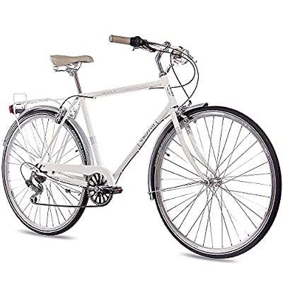 "28"" Zoll NOSTALGIE CITYRAD CITY BIKE HERRENRAD CHRISSON VINTAGE CITY GENT 6S SHIMANO WEISS 2017"