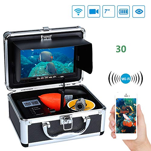 Portable Fischfinder 7 Zoll HD Video Sensor WiFi-Datenü Bertragungs Fisch-Finder Wasserdichte IP68 Designkamera Portable Angeln Gps