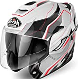 Airoh - casco moto airoh modulare rev revolution white gloss - care1a - xs