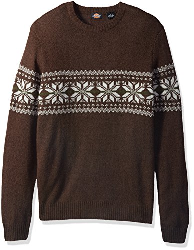 Dickies Men's Big and Tall Ragg Wool Nordic Crew Pullover, Espresso, 4XB (Pullover Wool Nordic)