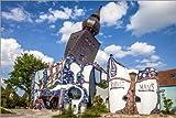 Posterlounge Acrylglasbild 180 x 120 cm: Huntertwasserhaus in Abensberg, Niedernbayern von Christian Müringer - Wandbild, Acryl Glasbild, Druck auf Acryl Glas Bild