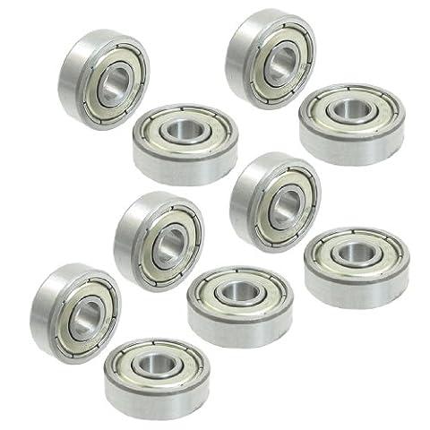 10 pcs 16 mm x 5 mm x 5 mm rangée simple en métal Deep Groove Roulement à billes 625zz