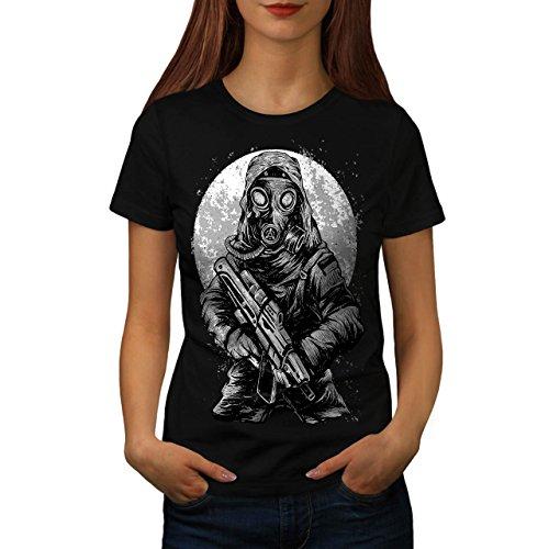 nuklear Krieg Giftig Horror Damen M T-shirt | Wellcoda