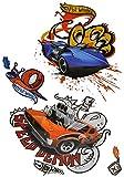 Unbekannt 4 tlg. Set 3-D ! Wandtattoo / Fensterbild - Hot Wheels Auto - wasserfest - selbstklebend Sticker Aufkleber Wandsticker Kinderzimmer