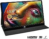 Monitor Portatile - IPS Schermo Monitor Portatile da 15,6' e Full HD 1920×1080, Monitor con USB-C/Type-C Mini HDMI per PC, Cellulare, Xbox, PS4 ecc. Con Custodia Protettiva e Protezione dello Schermo