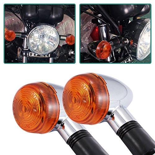 YC Motorrad Blinker Lichter Chrom Bullet Blinkerglas vorne hinten Blinker Licht für Harley Suzuki Honda Kawasaki Yamaha Motorrad Street Standard Custom Bike Cruiser Bobber Chopper